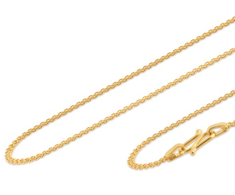Duo Twine Cable24k Gold Chain