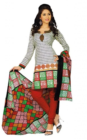 Dupatta Pattern with Stitched Suit