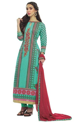 Embroidered Unstitched Salwar Suit