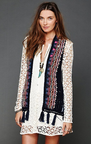 Embroidered women designer vest
