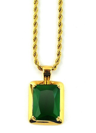 Emerald gold pendant