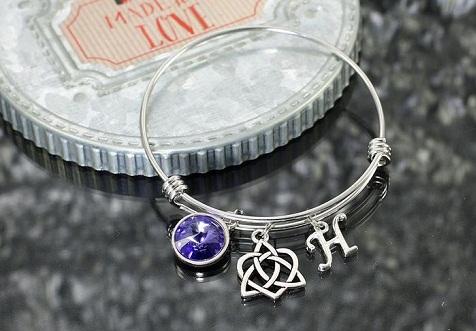 Eternity knot charm bracelet