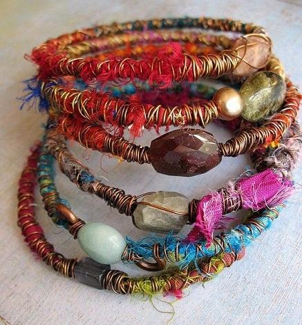 Fabric Scrap bracelet