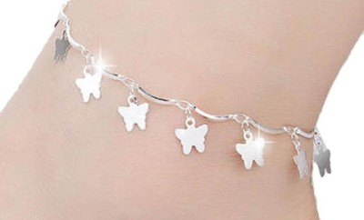Fancy Butterfly Star Anklets for Girls