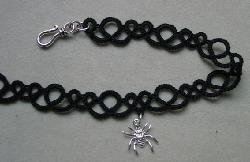 Fancy Laced Creepy Anklets for Men with Silver Spider