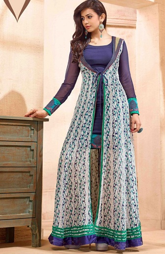 Fancy Salwar Suit With Jacket