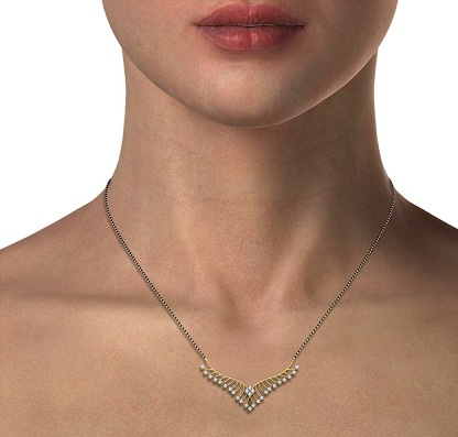 Fancy diamond mangalsutra