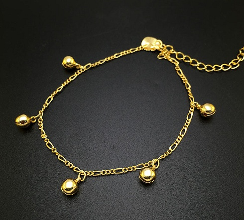 Fascinating Small Bell Gold Plated Anklets