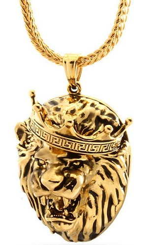 Fauna locketed gold plated necklace