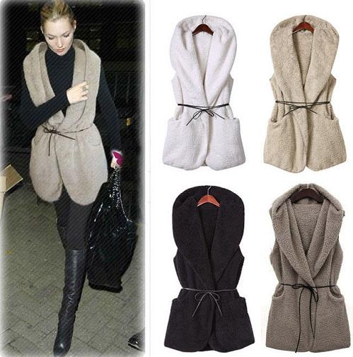 Faux Fur Sleeveless Winter Vest