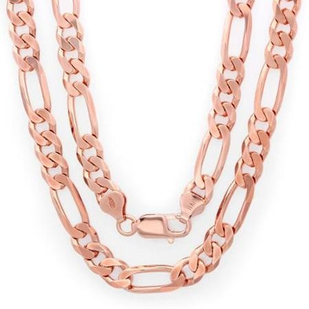 Figaro Rose Gold Chain
