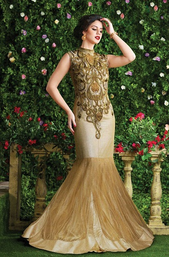 Fish cut floor length salwar