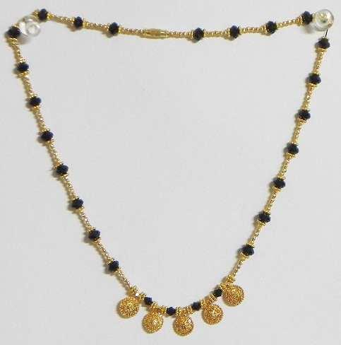 Five circular pendant Gold Platted Mangalsutra