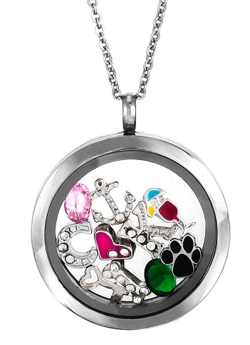 Floating charm necklace