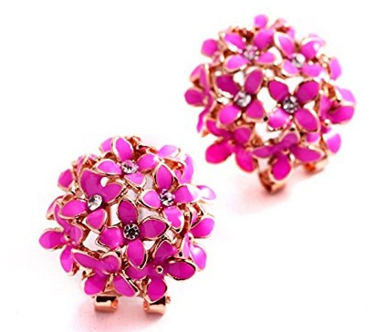 Floral Pink Earring