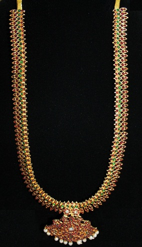 Floral bud design Long chain initiation temple jewelry