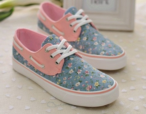 Floral print casual shoes for women -6