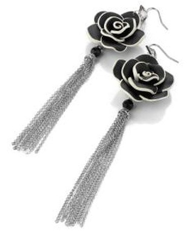 Flower Earring with Chains