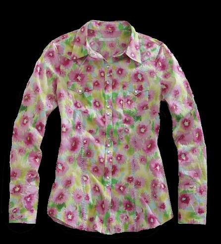 Flower Floral Pink Women Shirt