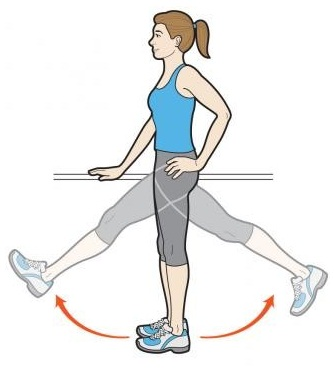 Forward and backward Leg Swings exercises for hips (1)