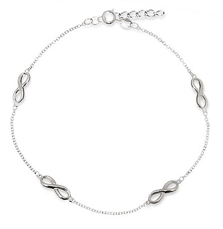 Four infinity anklet
