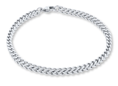 Foxtail Platinum Bracelet for Men