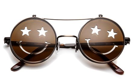 Funky Star Eyes Flip Up Sunglasses For Young ones
