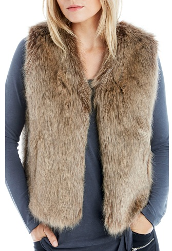 Fur deisgner Vest for women