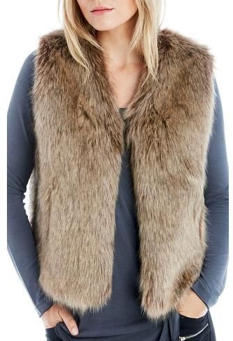 Fur deisgner Vest for women