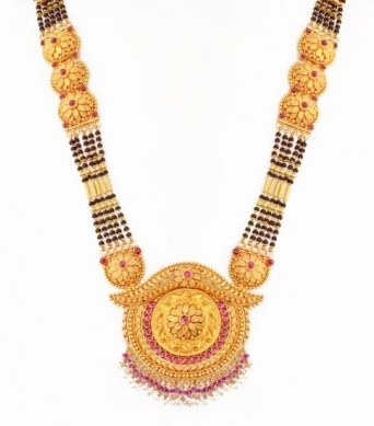 Gemstone Antique Mangalsutra Design