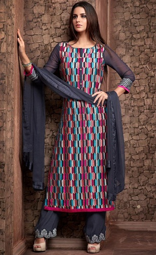 Georgette Unstitched Salwar Suit