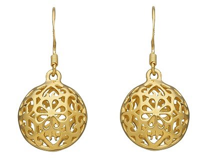 Globe drop earring
