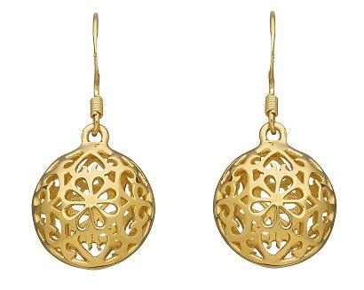 Globe drop earring