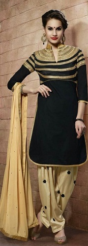 Gold Patiala Salwar Suit