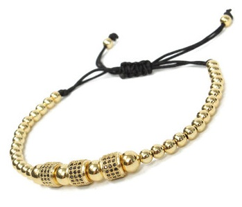 Gold Plated Beads Anklets for Men