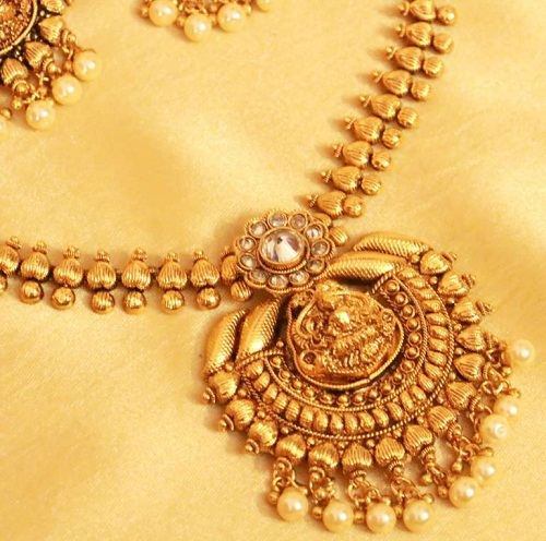Gold Plated Temple jewelry Necklace Set