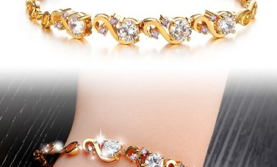 Gold Platted Diamond Bracelet