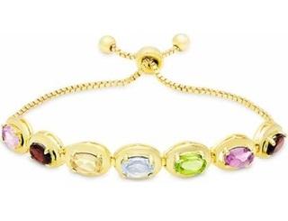 Gold Platted Gemstone Bracelet