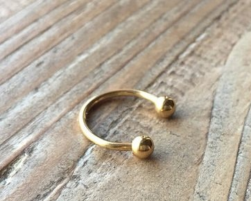Gold Platted Pressing Nose Pin4