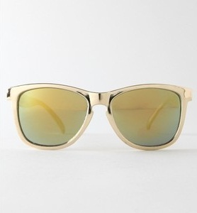 Gold Reflective Sunglasses for Men