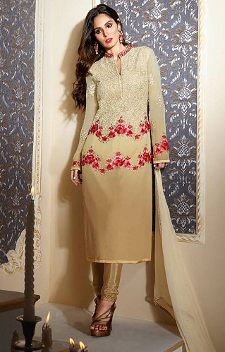 Gold Straight Salwar Suit