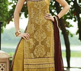 Gold Trendy Salwar Suit
