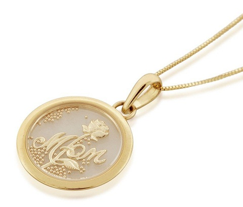 Gold crystal pendant