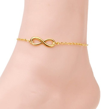 Gold infinity anklet