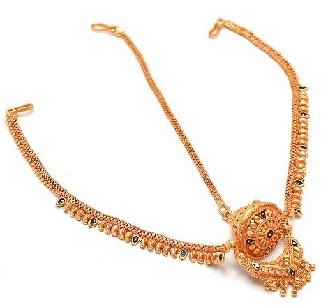 Gold plated designer borla
