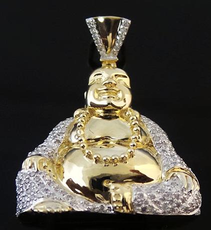 Gold statue custom pendant