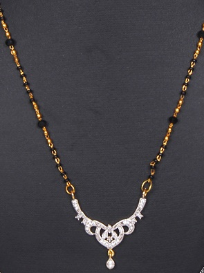 Golden chain American diamond set