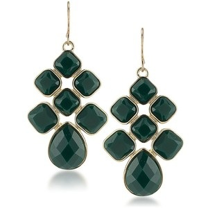 Green Chandelier Earring