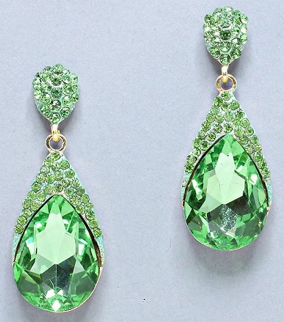 Green Drop Earring