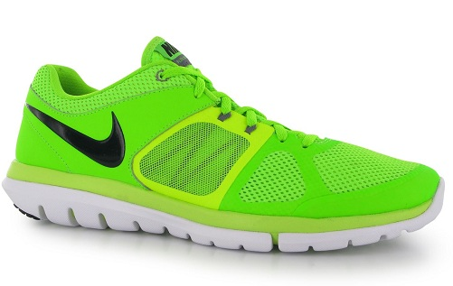 Green Flex Men's Running Shoes